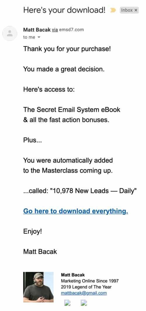 download secret email system matt bacak